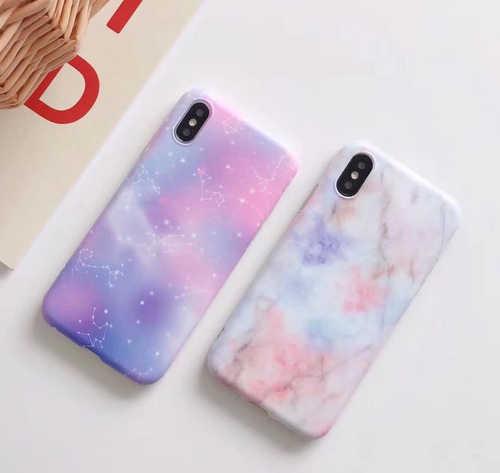 YHCSZ Созвездие Мрамор мягкий полное покрытие чехол для телефона iphone 6 6s 7 8 plus X -