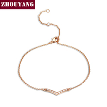 V Lover Hot Sell Elegant Rose Gold Color Bracelet Jewelry For Women Wedding Gift Wholesale Top
