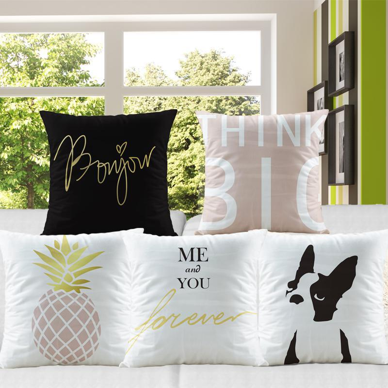 Nordic Style Decoration Dog Cushion Cover Puppy Pineapple