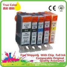 Yedek PGI520 CLI521 PGI 520 CLI 521 PGI 520 CLI 521 mürekkep Canon için kartuş MP980 MP990 IP 3600 IP 4600 IP 4700 mürekkep