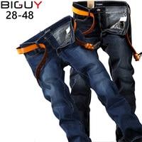 2015 Summer Style Plus Size 40 42 44 46 48 Big Men Jeans Straight Fit Denim