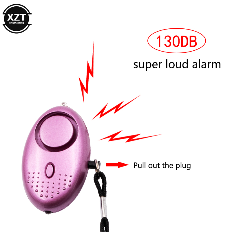 Alarme de autodefesa de 130db, chaveiro de segurança anti-wolf para meninas e mulheres, alerta de segurança pessoal e com alarme de emergência