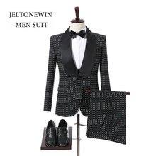 2018 New Fahion Brand Shawl Lapel Men Suits 3 Pieces Tuxedo Formal Elegant Wedding Groom Men Suit(Jacket+Vest+Pants+Bow)