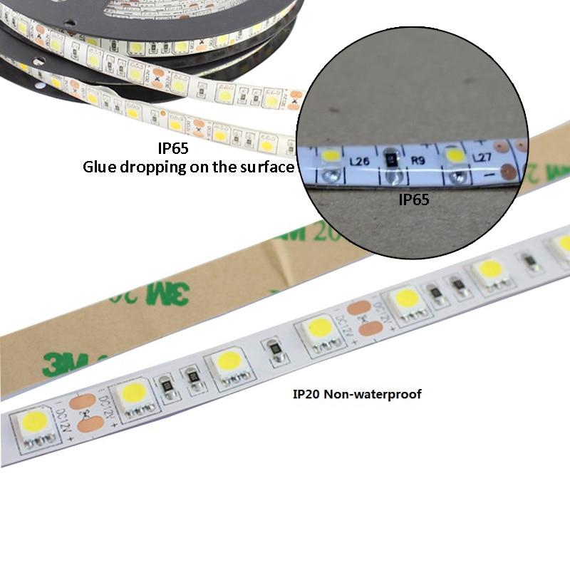 RF Trådløs Dimmbar LED Strip Light Kit 12V DC 5M 300 SMD 5050 LED - LED-belysning - Bilde 3