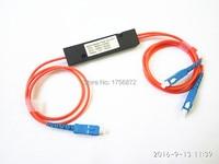 1X2 Multi Mode Couplers1x2 FBT Splitter Module 50:50 Multimode Fiber Optic Coupler Box SC/UPC Connector 1meters