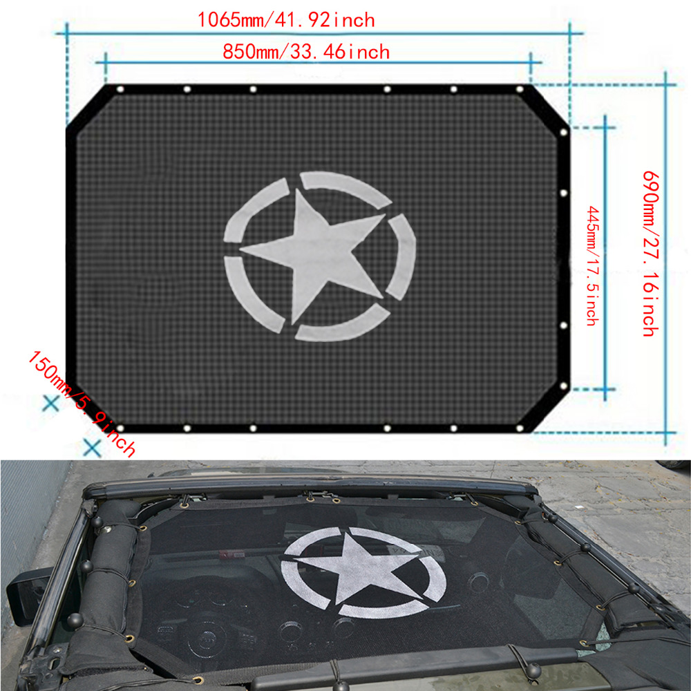 Car Exterior Parts Roof Sunroof Cover Military Army Star
