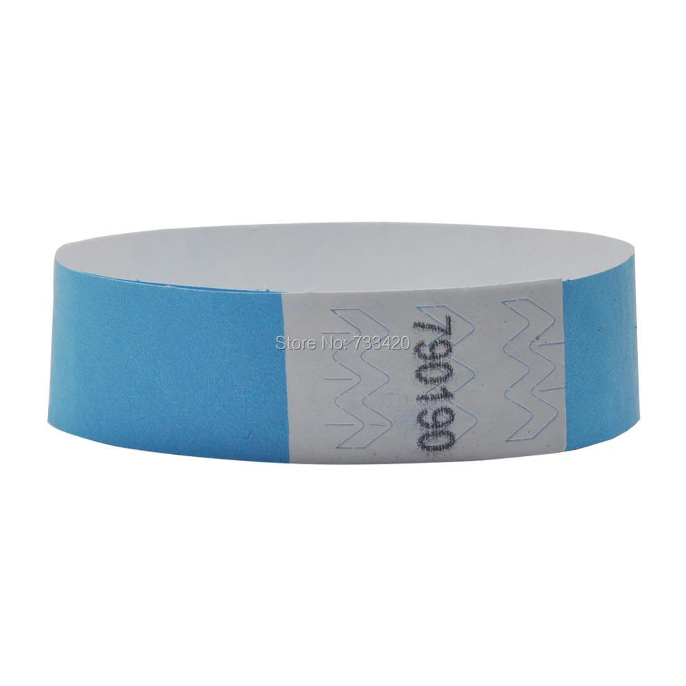solid NEW Blue colors 3/4 inch Tyvek wristbands with numbers, ID ...