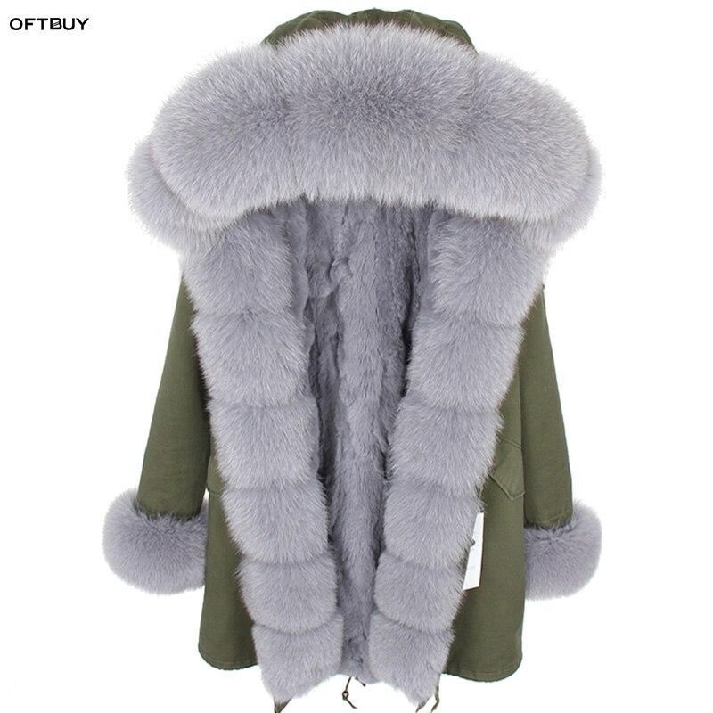 Jacken & Mäntel Echtes Fell Oftbuy 2019 Winter Jacke Frauen Big Echt Pelzmantel Parka Mongolei Schafe Pelz Kragen Rex Kaninchen Pelz Liner Quaste Lange Mantel Mode