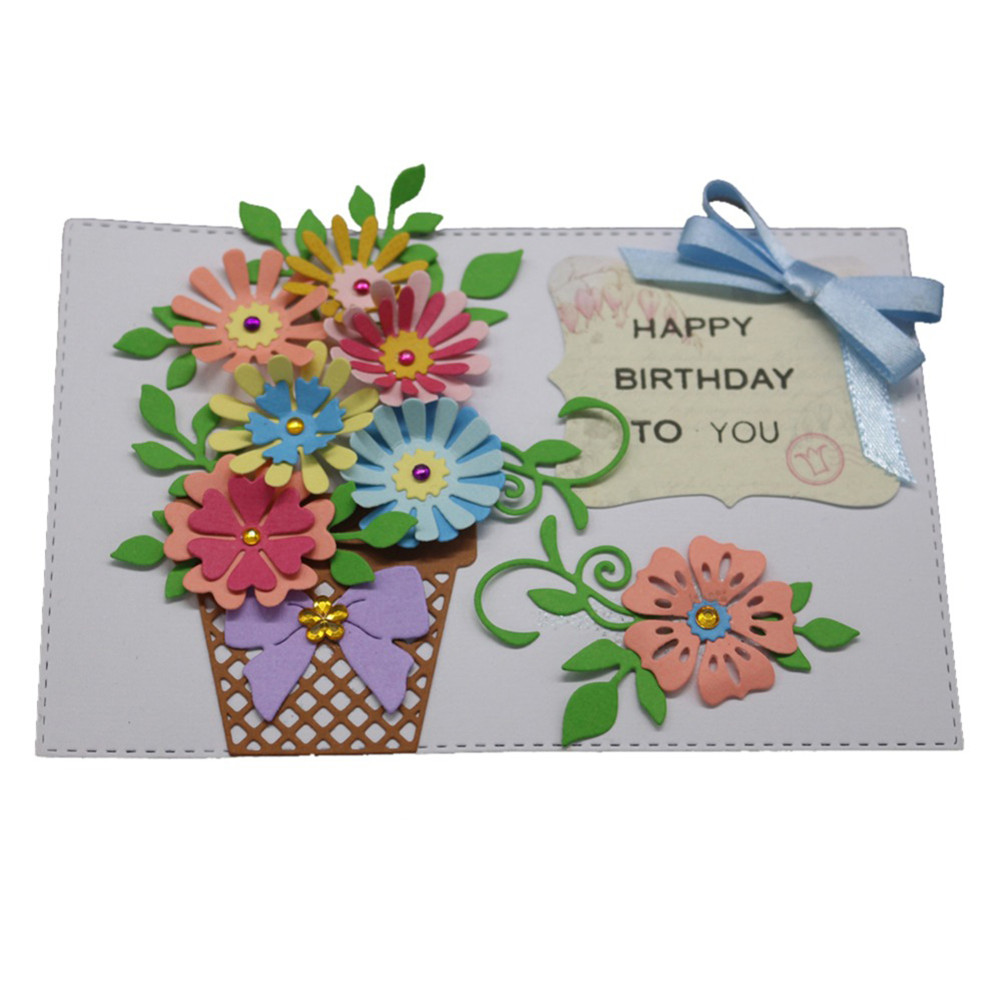 Fashion Frame Embossing Template Greeting Cards Flower Card Decor