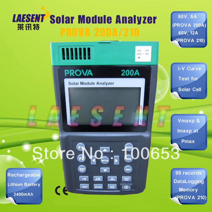 PROVA-200A Solar Panel Analyzer for Manufacturing & Research of Solar Panels & Module