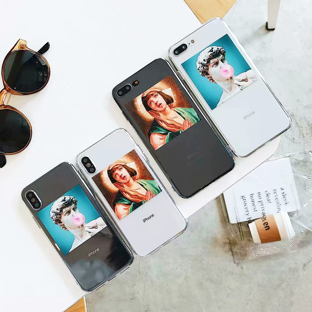 KIPX1092_8_JONSNOW Clear Soft Case For iPhone 6S 7 8 Plus X XR XS Max Artistic Picture Design Ultra-thin Transparent Silicone Back Cover Capa