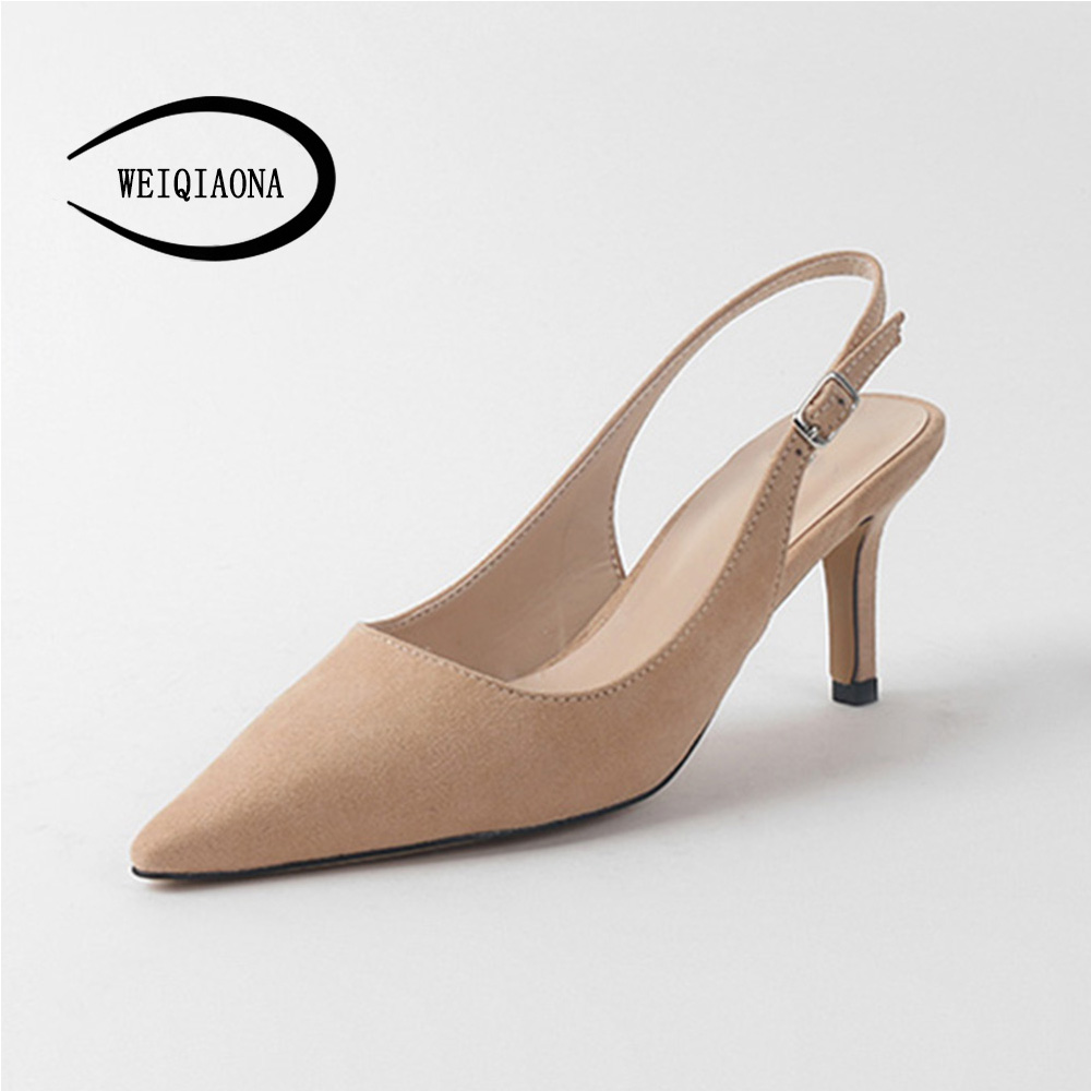 WEIQIAONA 2018 New Summer Women Casual Pumps High Heels Shoes Elegant Buckle Rhinestone Heeled Sexy Pointed Wedding Shoes o hara amorous nightmares of delay