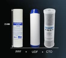 Очиститель воды 3 Этап 10 «Фильтр-Картридж PP UDF CTO Система Фильтры Для Очистки Воды Бытовые