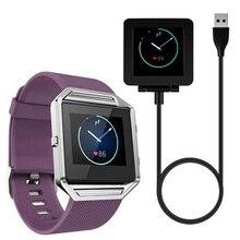 YCYS Weichem Silikon uhrenarmband-armband + Ladegerät Dock Für Fitbit Blaze SmartWatch Lila