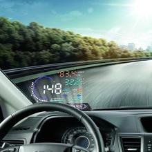 """Diseño Multi Color 5.5 """"A8 Parabrisas Car HUD Head Up Display Proyector de Exceso de Velocidad de Advertencia de Combustible OBD II y EOBD Velocímetros"""