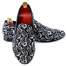 Harpelunde Men Moccasin Shoes Paisley Printed Driving Loafers British Leisure Shoes Size 7-14