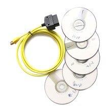 Кабель для передачи данных для bmw ENET Ethernet для OBD 2 Интерфейс E-SYS данных ICOM кодирование для F-serie
