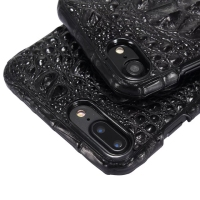 Luxury 3D Crocodile Skin Leather Case For IPhone 7 Plus Cell Phone Original Natural Real Genuine