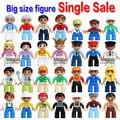 Sola venta nuevo en stock duplo gran tamaño personajes partes de bloques de construcción juguetes de colección bebé de juguete de regalo