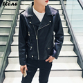 Selling 2016 New Men's Vintage Winter Coats Street Fashion Male Locomotive PU Leather jacket Male Coat Plus Size M-5XL