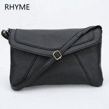 RHYME Casual Vintage Small Women Bags Leather Messenger Clutch Retro Envelope Handbag Purse Sling Crossbody Shoulder