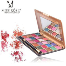 MISS ROSE 24 Color South American Eyeshadow Palette Pearlescent Matte Lasting Waterproof Sexy Beauty