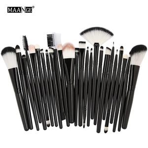 Image 4 - MAANGE 25pcs Makeup Brushes Set Beauty Foundation Power Blush Eye Shadow Brow Lash Fan Lip Concealer Face MakeUp Tool Brush Kit