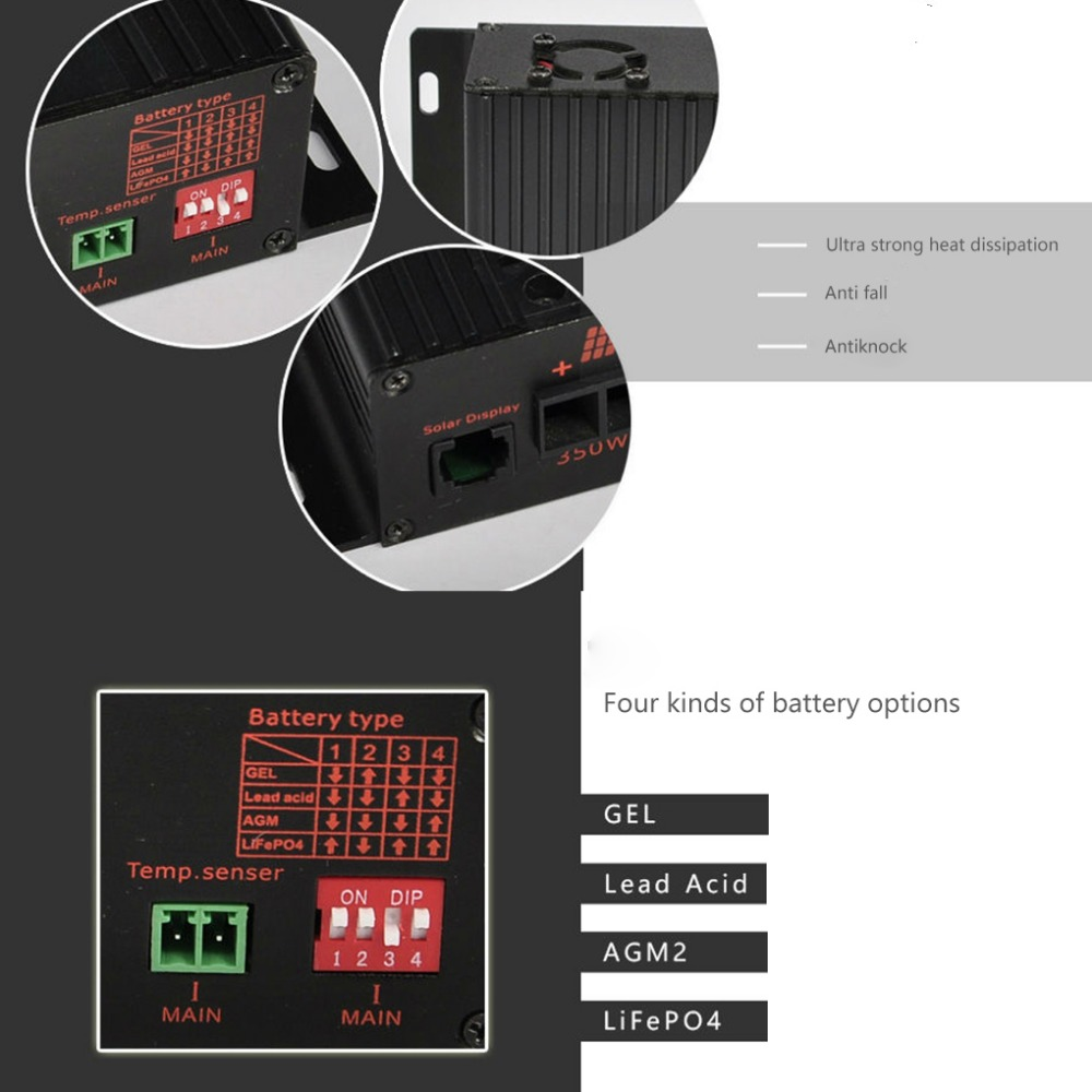 MPPT 10A 20A 12 v Bateria Controlador
