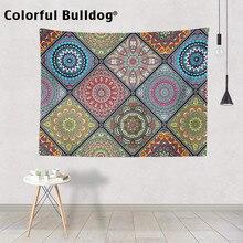 Bohemian Tapestry Mandalaคริสต์มาสGeometric Chevronโมร็อกโกCheckered Zigzagแขวนผนังแขวนตกแต่งผ้าห่มFarmhouse