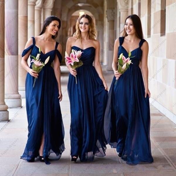 dark royal blue bridesmaid dresses
