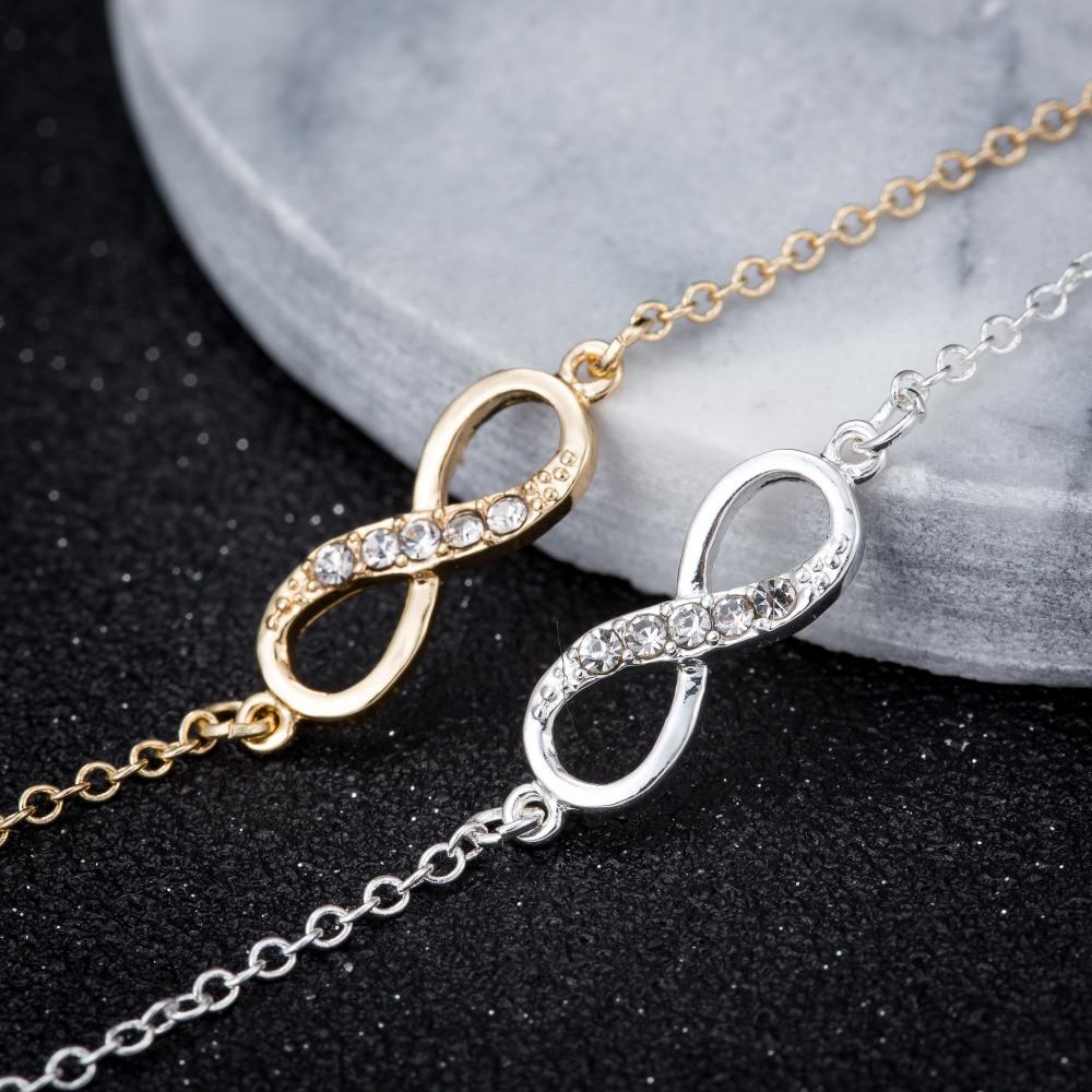 Shuangshuo 2017 New Fashion Infinity Bracelet for Women with Crystal Stones Bracelet Infinity Number 8 Chain Bracelets bileklik 6