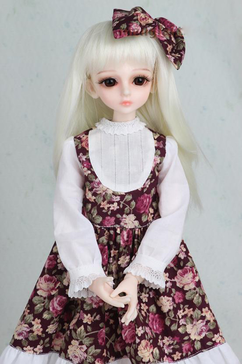 1/3 1/4 1/6 1/8 BJD SD Volks Dod Sooms Ai Doll Clothes Lovely Dress With Butterfly For Girls Doll Dress  1
