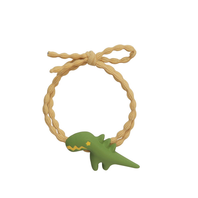 2019 New Cute Sweet Children Girl's Cartoon Dinosaur Pink Green Yellow Orange Elastic Headbands Kid's Fashion Hair Accessories