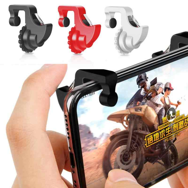 1Pair L1 R1 Gaming Trigger Smart Phone Giochi Shooter Controller Pulsante di Fuoco Maniglia Per PUBG/Regole di Sopravvivenza /coltelli Out #19