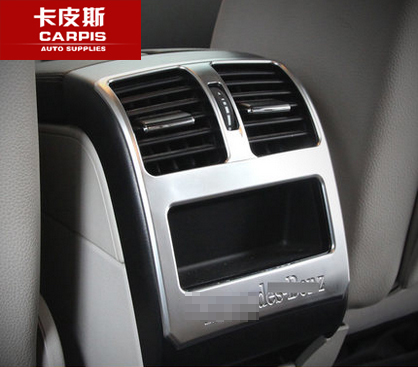 Chrome Car AC Air Conditioning Outlet Cover Vent Trim Car Interior Mouldings For Mercedes Benz GLK 300 260 350 Car Styling