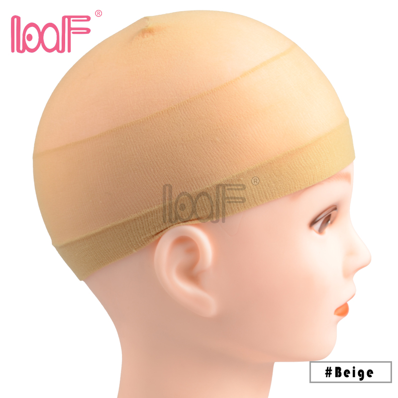 2 Pcs Deluxe Stocking Wig Cap Stretchable Elastic Hair Net Polyester Adjustable Size Mesh For Wearing Wigs Weaving Caps Tools & Accessories Hairnets