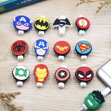 Silicone Cartoon Usb Protector Cable Case Clip For iPhone 6 7 8 X Cover Winder Cord Protector wire Organizer for Samsung Huawei samsung cartoon huawei cable accessories protective cover for iphone 6 7 8 plus x batman cable bite protective cover