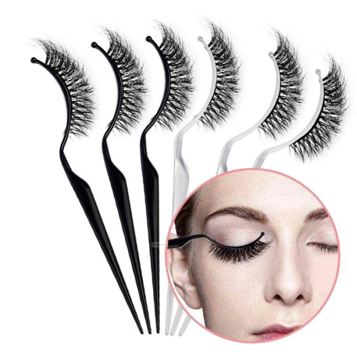 3pcs Plastic Eyelashes Display Stick Customer Wear Eyelash Show Stick Eye Lash Extension Try It On Tools