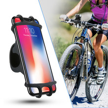 цена на Universal Bike Bicycle Motorcycle Mobile Phone Silicone Holder Buckle Pull Nonslip Cellphone GPS Handlebar Bracket Stand