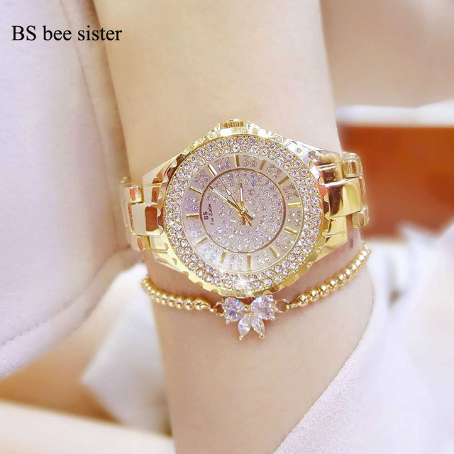 Brand Women Bracelet Watches Fashion Luxury lovers Rhinestone Wristwatch Ladies