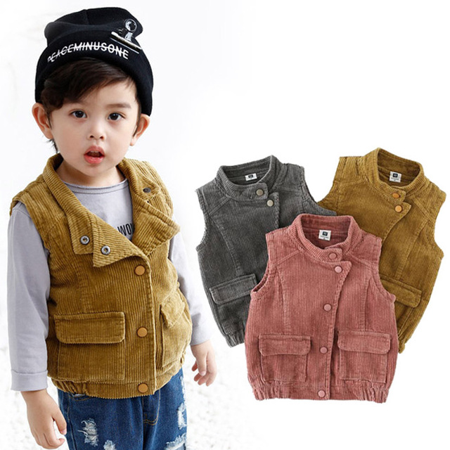96cc7bf84021 Aliexpress.com   Buy DZIECKO Winter Boys Girls Cotton Fleece Vest ...