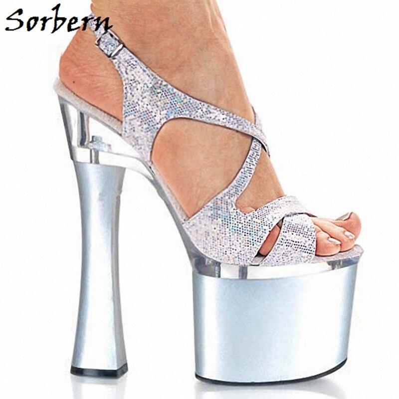 Sorbern Open Toe Heel Ladies Sandal Summer Designer Brand Fashion Platform Custom Color Woman Sandals 2019 Summer Size 11 Shoes