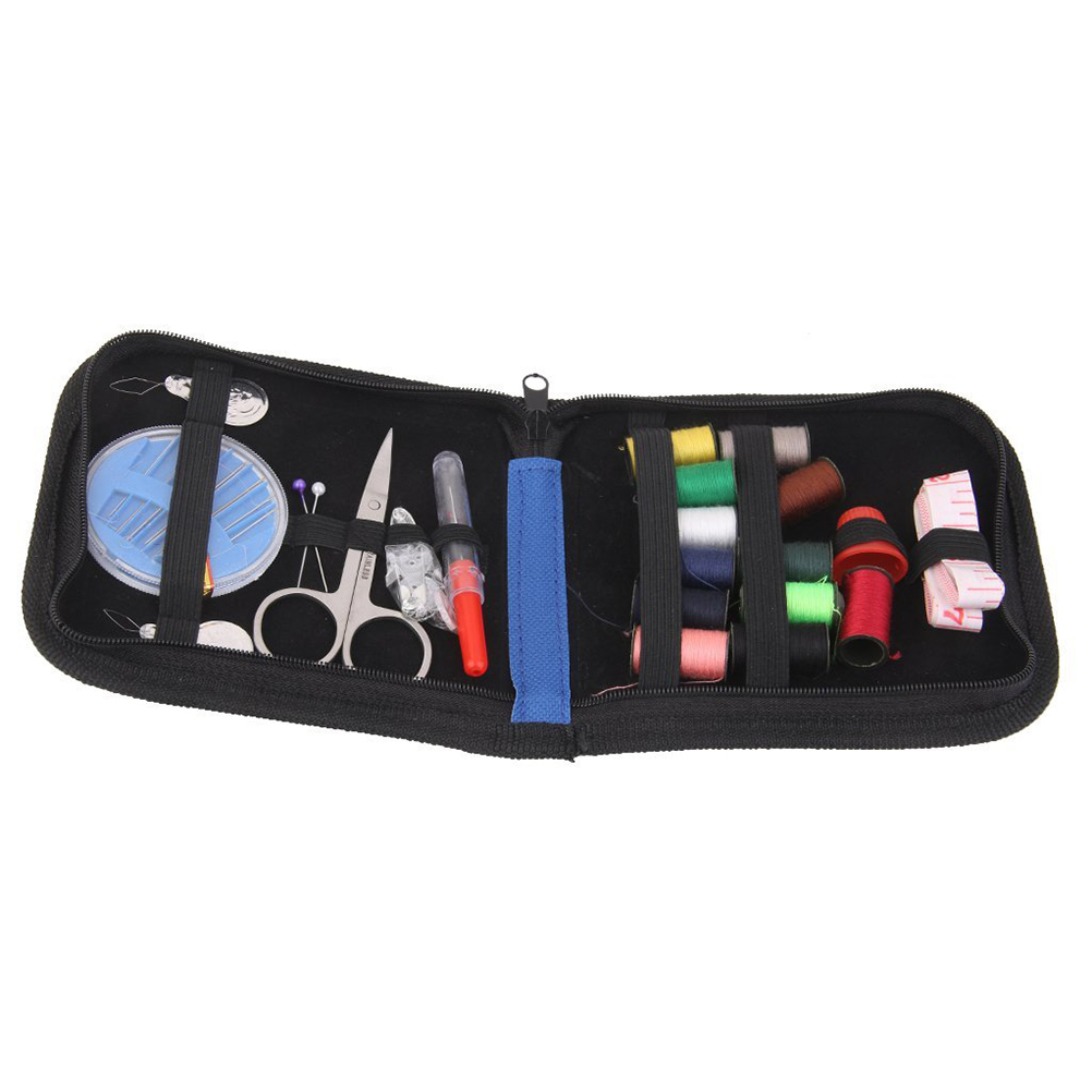 Come on Shopping 25pcs Travel Sewing Kit Needles Thread Scissors Set with Blue Zipper Bag Home Travel Campers Emergency Premium Gift
