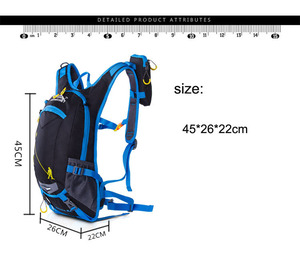 Image 4 - 20L Ergonomic Waterproof Bicycle Backpack Ventilate Cycling Climbing Travel Running Portable Backpack Outdoor Sports Water Bags