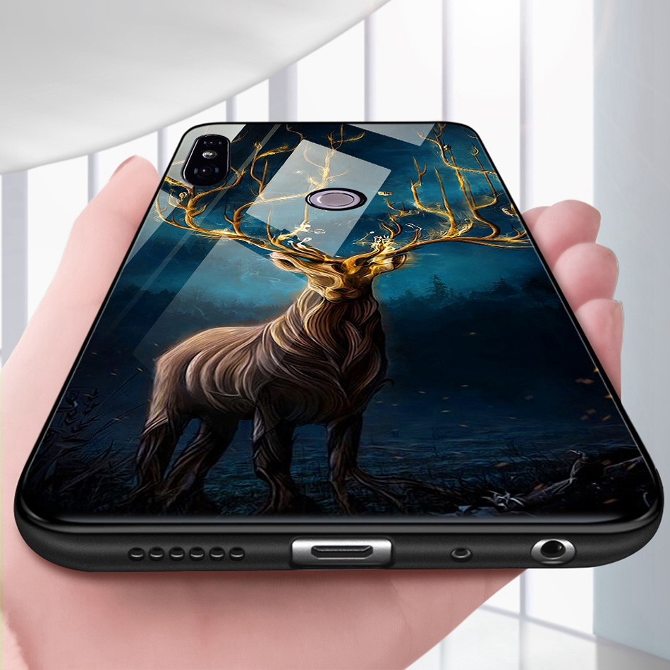 Tempered Glass Case For Xiaomi Redmi Note 5 5 Pro 5 Plus Note 4X Case Luxury Animal Pattern Case For Xiaomi Mi 8 A1 5X Coque     (8)