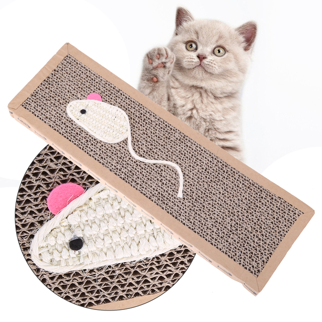 Cat Toy Sisal Hemp Cat Scratcher Pad Pet Claw Scratch Board Scratching Post Fun Toys For Cats Pets Animals Pet Products for Cats