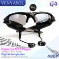 VENYASOL 480 P Цифровой mp3-плеер Солнцезащитные Очки Мини-Камера Поляризованный Гарнитура Цифровой Рекордер DVR CAM Спорт Видео Открытый скрытые