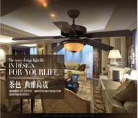 American restaurant ceiling chandelier fan lights Fan LED ceiling light chandelier fan Nordic bedroom Mediterranean living room