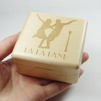 Handmade Nature wood wind up music box city of stars melody from LA LA LAND