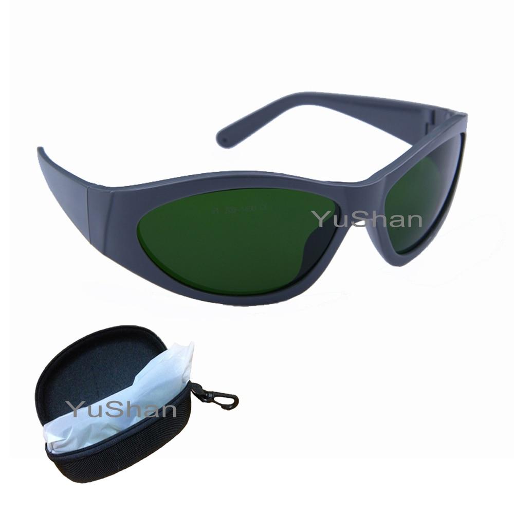 แว่นตานิรภัย IPL ความปลอดภัย 200-1400nm ป้องกันแสงสะท้อนแว่นตานิรภัยฟรี shinping